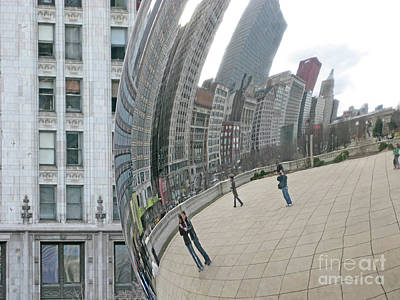 Art Print featuring the photograph Imaging Chicago by Ann Horn