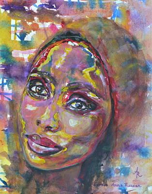 Painting - Imany Nadia Mladjao by Anna Ruzsan
