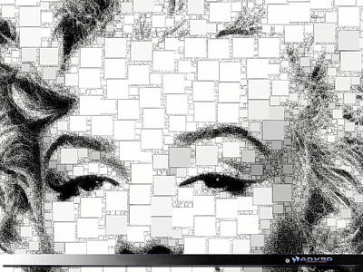 Art Print featuring the digital art iMarilyn 009 by A Dx