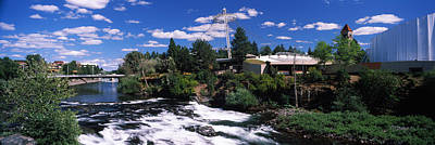 Imax Theater With Spokane Falls Art Print by Panoramic Images