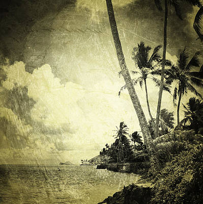 Haleiwa Photograph - Sea Wall Sepia by Stacy Vosberg