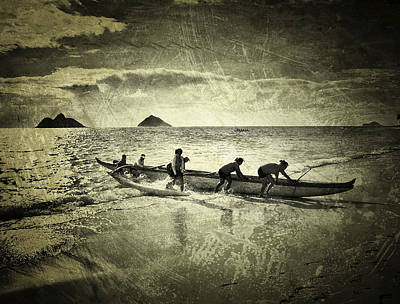 Haleiwa Photograph - Canoe Club Sepia by Stacy Vosberg