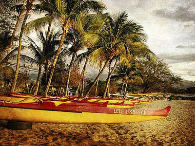 Haleiwa Photograph - Canoes by Stacy Vosberg
