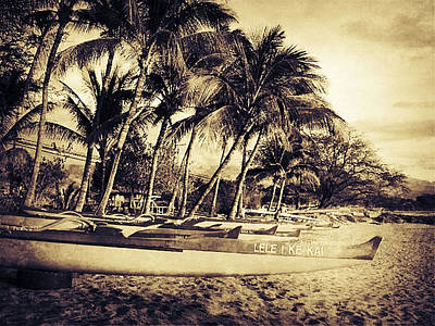 Haleiwa Photograph - Canoes Sepia by Stacy Vosberg
