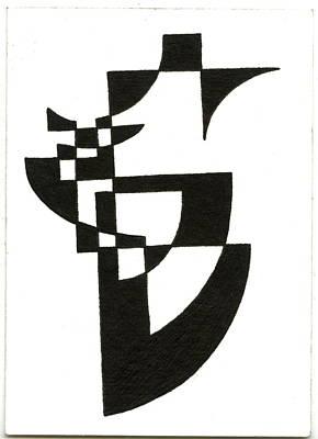 Abstract Forms Drawing - Img002_2_2.jpg by Joshua Beard