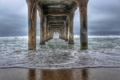 Old Masters - Rainy Pier  by Victoria Mann