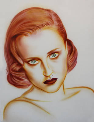 Gillian Anderson Painting - Gillian Anderson by Frank Lucas
