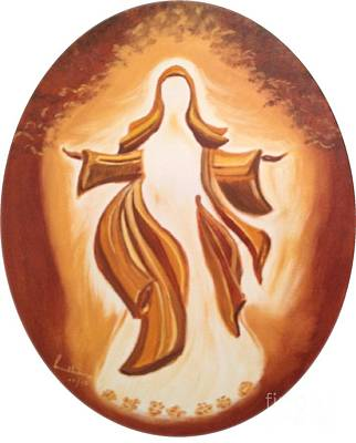 Art Print featuring the painting Immaculate Conception by Brindha Naveen