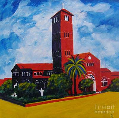 Painting - Immaculate Conception Cathedral by Nancy Czejkowski
