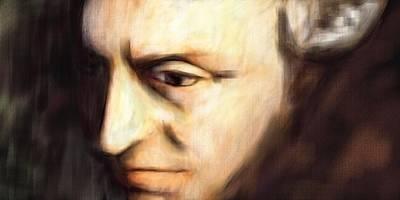 Critique Digital Art - Immanuel Kant by Michael Kuelbel