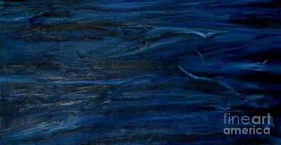Immense Blue Print by Silvana Abel