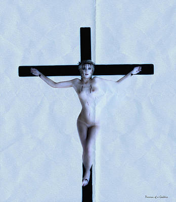 Immerse Crucifix Art Print by Ramon Martinez