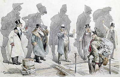 Discrimination Painting - Immigration Cartoon, 1893 by Granger