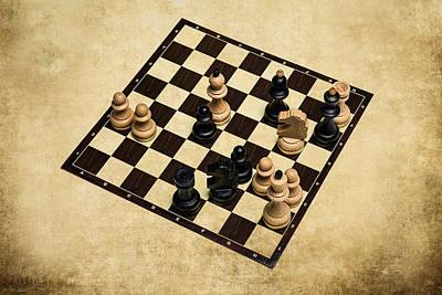 Immortal Chess - Deep Blue Computer Vs Kasparov 1996 Art Print by Alexander Senin