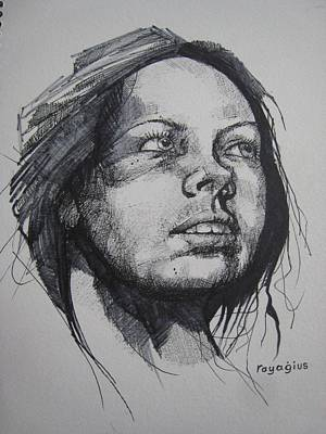 Painting - Sketch For Imogen by Ray Agius