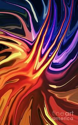 Colorful Digital Art - Impact by Chris Butler