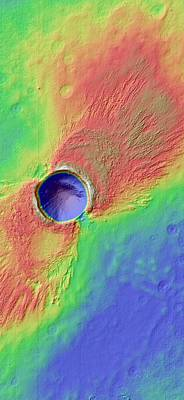 Impact Photograph - Impact Crater In Arcadia Planitia by Nasa