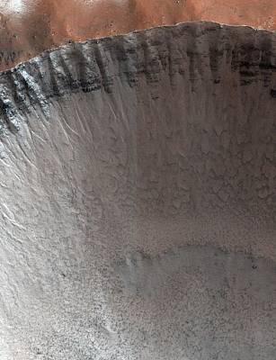 Impact Photograph - Impact Crater On Mars by Nasa/jpl/university Of Arizona
