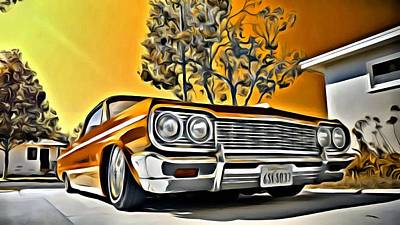 Painting - Impala Love by Florian Rodarte