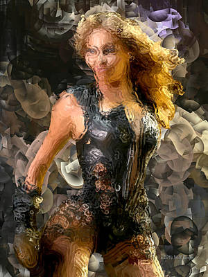 Beyonce Knowles Painting - Impasto Beyonce Nbr 1 by Will Barger