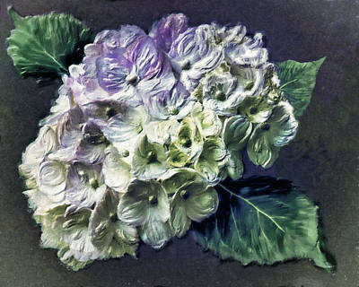 Digital Art - Impasto Hydrangea by Jill Balsam