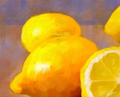 Painting - Impasto Lemons by Steven Lester
