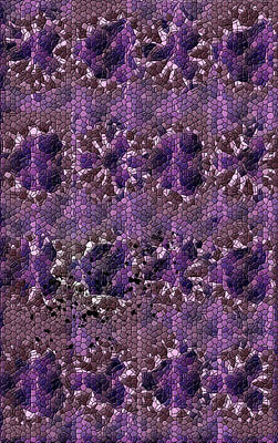 Digital Art - Imperfect Purple Pattern by Lee Farley