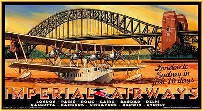 Imperial Airways 2 Art Print by Clive Norton