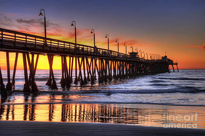 Imperial Beach Pier Art Print by Eddie Yerkish