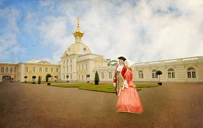 Art Print featuring the digital art Imperial Peterhof by Roy  McPeak