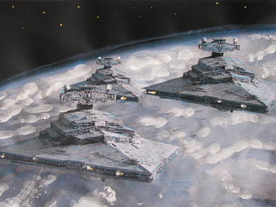 Imperial Star Ship Destroyers Art Print
