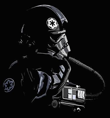 Black Tie Mixed Media - Imperial Tie  Pilot 2 by Brian Stevens