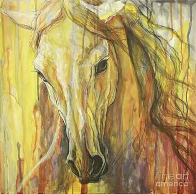 Horse Art Painting - Impetus by Silvana Gabudean Dobre
