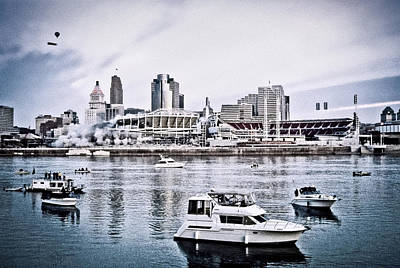 Photograph - Implosion Of River Front Stadium by Scott Meyer