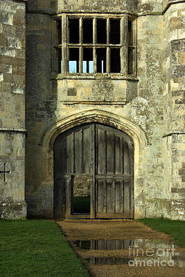 Imposing Front Door Of Titchfield Abbey Print by Terri Waters