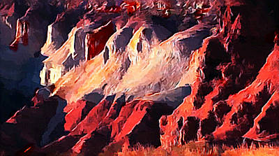 Digital Art - Impression Of Capitol Reef Utah At Sunset by Bob and Nadine Johnston