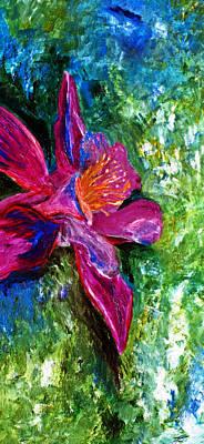 Angela Pari Dominic Chumroo Painting - Impression Of Columbine by Ayasha Loya
