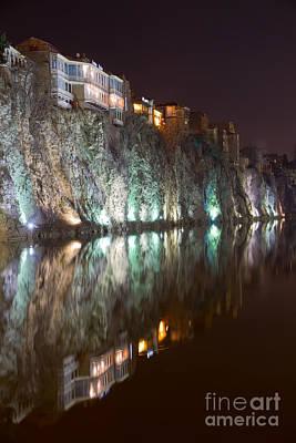 Tbilisi Digital Art - Impressiones At Mtkvari River by Jovanovic Dragan