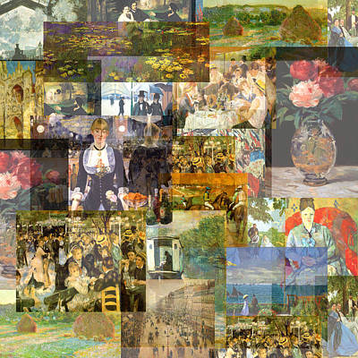 Timelines Mixed Media - Impressionism 1870s To Begin Xxth Century by Anders Hingel