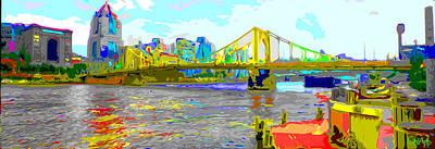 Photograph - Impressionist Clemente Bridge 2 by C H Apperson