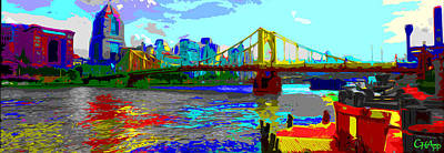 Photograph - Impressionist Clemente Bridge by C H Apperson