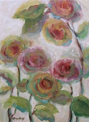 Rose Mary Walls Painting - Impressionist Flowers by Mary Wolf