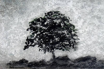 Painting - Impressionist Gray Tree by David Clode
