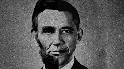 Impressionist Interpretation Of Lincoln Becoming Obama Art Print