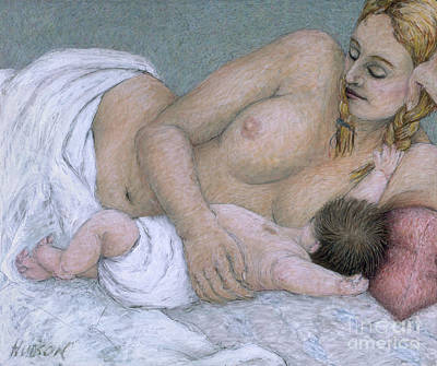 Painting - impressionist mother and child painting - Between Time by Sharon Hudson