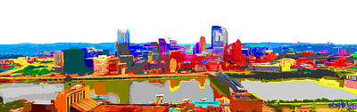 Photograph - Impressionist Pittsburgh Across The River by C H Apperson
