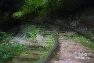 Rail Road Mixed Media - Impressionist Rail Tracks by Doc Braham