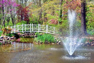 Bucolic Photograph - Impressionist Sayen Garden by Olivier Le Queinec