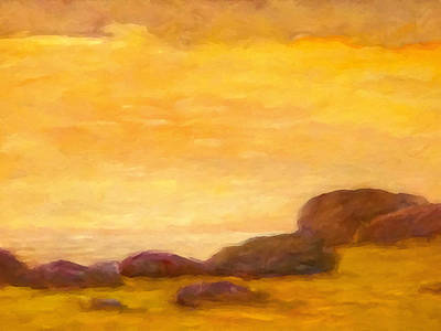 Seascape Impression Painting - Impressionist Sunset by Lutz Baar