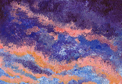 Impressionist Sunset Art Print by Tricia Griffith